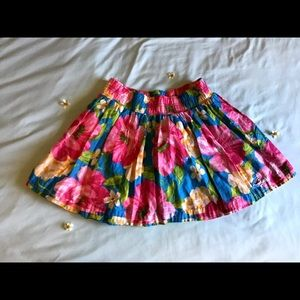 Hollister bright floral skater skirt